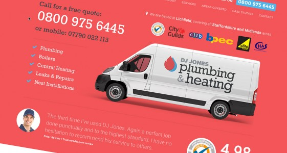 DJ Jones Plumbing & Heating Website